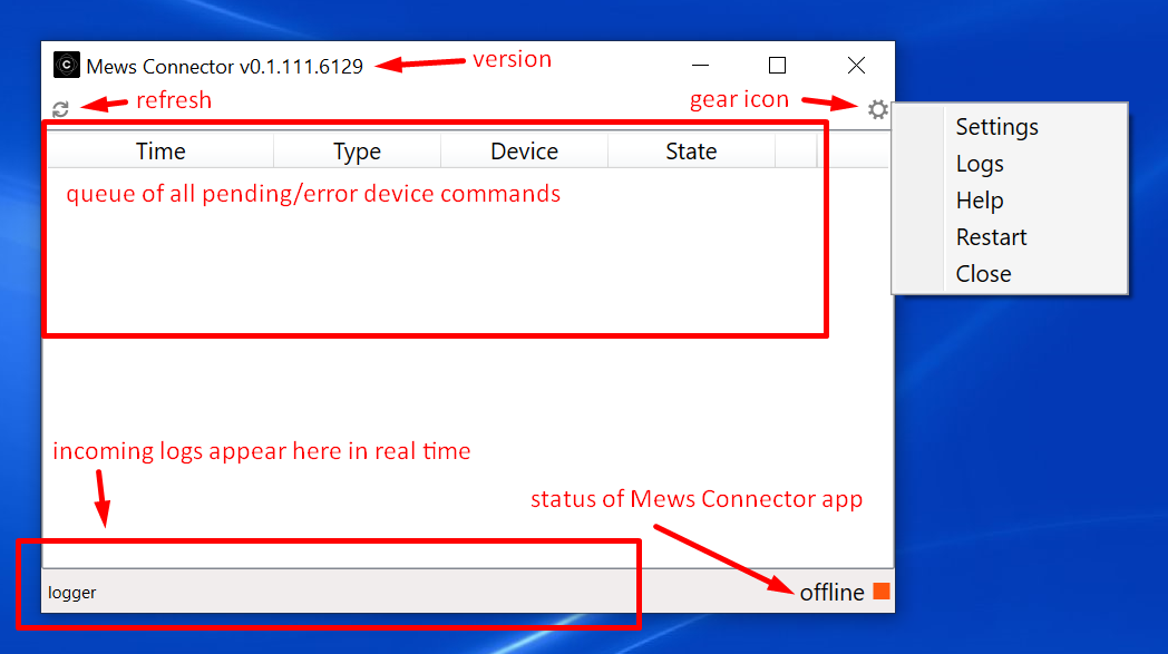 Mews Connector application at first glance